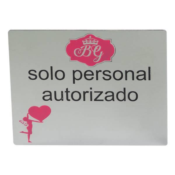 Placa de señalización